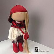 Куклы и игрушки ручной работы. Ярмарка Мастеров - ручная работа Малышка Кепочка. Интерьерная текстильная кукла.. Handmade.