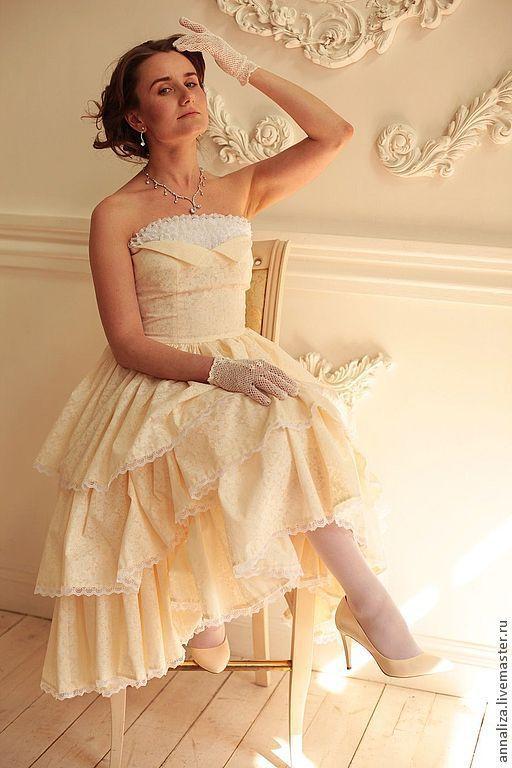 """Платья ручной работы. Ярмарка Мастеров - ручная работа. Купить Вечернее платье с пышной юбкой """"Ванильное облако"""". Handmade."""