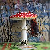 Для дома и интерьера ручной работы. Ярмарка Мастеров - ручная работа Грибы.Мухомор.Скульптура ботаническая,гриб мухомор(мухоморчик),лесной. Handmade.
