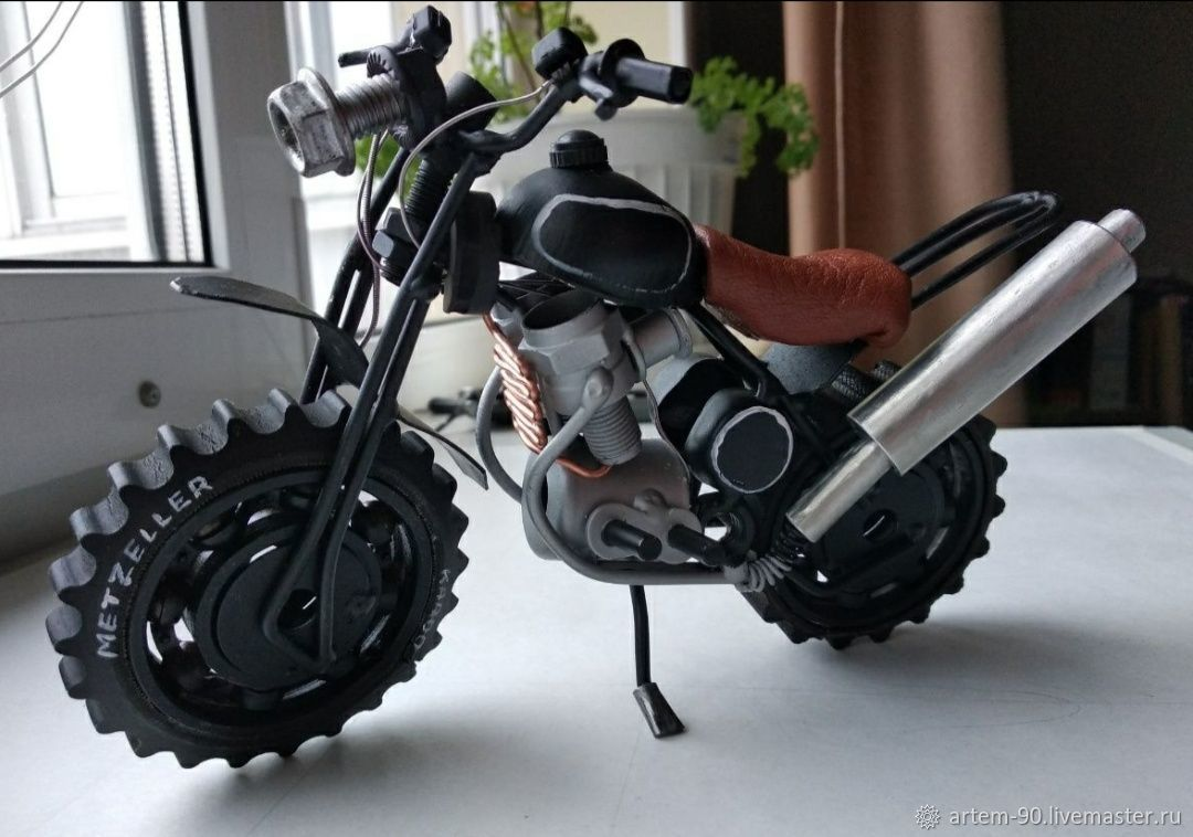 Модель мотоцикла ручной работы, Модели, Каменск-Уральский,  Фото №1