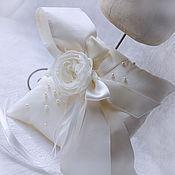 Свадебный салон ручной работы. Ярмарка Мастеров - ручная работа Подушечка для обручальных колец. Handmade.