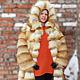 Верхняя одежда ручной работы. Шуба из рыжей лисы, поперечная.  С капюшоном. Татьяна Широкорад. Интернет-магазин Ярмарка Мастеров.