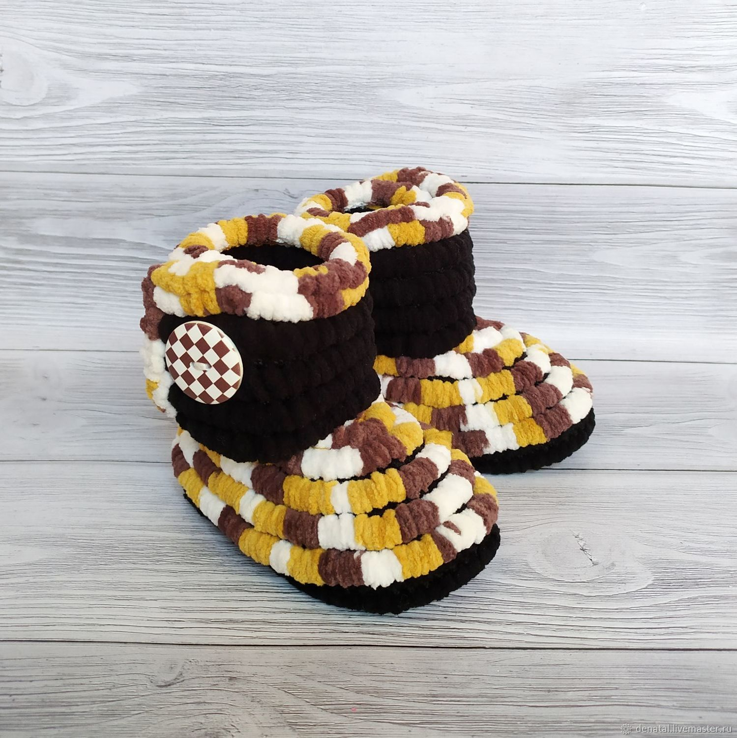 Children's shoes: plush knitted boots for children, 12 cm on the foot, Footwear for childrens, Irkutsk,  Фото №1