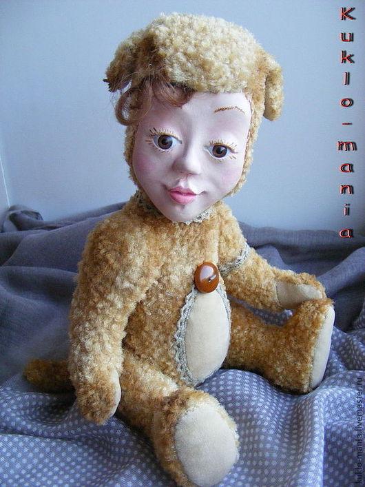 Коллекционные куклы ручной работы. Ярмарка Мастеров - ручная работа. Купить тедди-долл Аими. Handmade. Бежевый, teddy doll