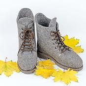 """Обувь ручной работы. Ярмарка Мастеров - ручная работа Ботинки """"Нескучная ахроматика"""". Handmade."""