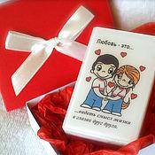 Подарки к праздникам ручной работы. Ярмарка Мастеров - ручная работа Мыло Love is... смысл жизни (в коробочке ручной работы). Handmade.