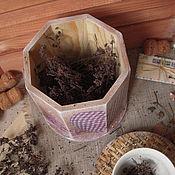"""Для дома и интерьера ручной работы. Ярмарка Мастеров - ручная работа """"Чай с лавандой"""", короб для хранения сухих душистых и полезных трав. Handmade."""
