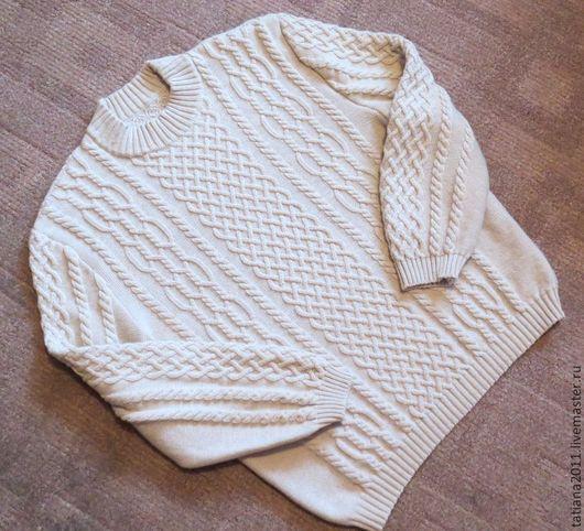 Для мужчин, ручной работы. Ярмарка Мастеров - ручная работа. Купить мужской пуловер из мериноса и кашемира (56-62 р-р). Handmade.