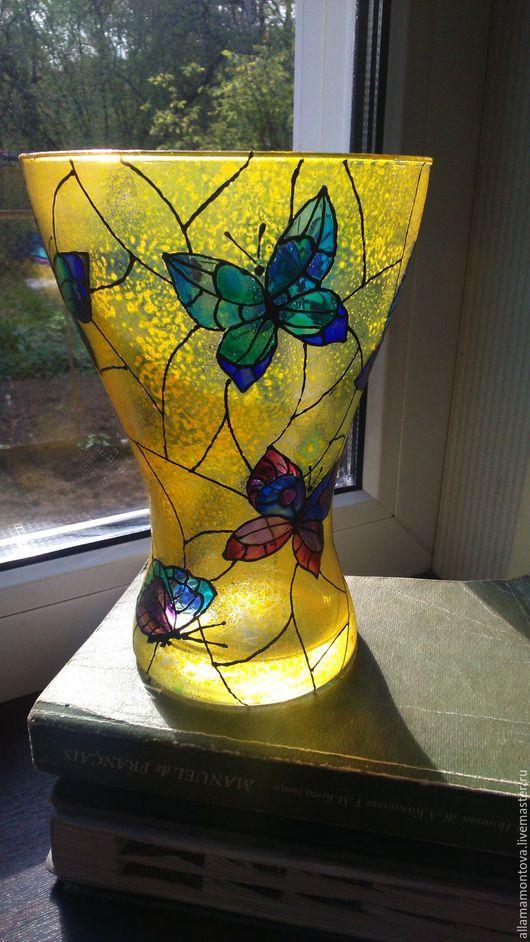 """Вазы ручной работы. Ярмарка Мастеров - ручная работа. Купить ваза """"Бабочки"""". Handmade. Ваза, авторская работа"""