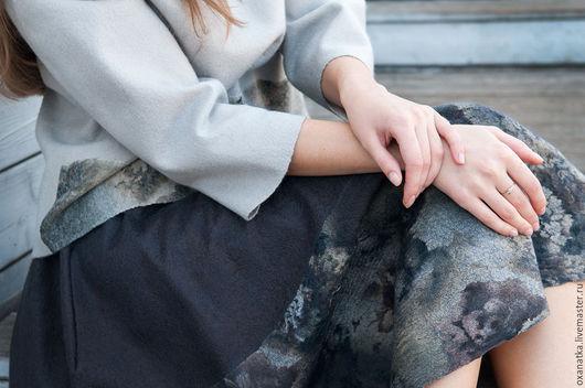 Юбки ручной работы. Ярмарка Мастеров - ручная работа. Купить Валяная юбка Пепел роз. Handmade. Темно-серый