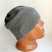 """Аксессуары ручной работы. Ярмарка Мастеров - ручная работа шапка мужская """"Grey"""". Handmade."""