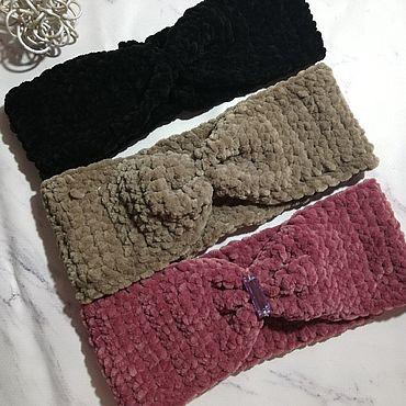 Товары для малышей ручной работы. Ярмарка Мастеров - ручная работа Вязаная повязка для головы ручной работы. Handmade.