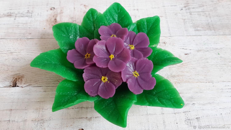 """Мыло ручной работы. Ярмарка Мастеров - ручная работа. Купить Мыло""""Фиалки"""". Handmade. Цветы, оригинальный подарок, мыльные цветы"""