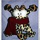 Игрушки животные, ручной работы. Кот Саймона в машину. Текстильный кот с шарфом. Лидия Лавицкая - Куклы и текСТИЛЬ. Ярмарка Мастеров.