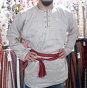 Русский стиль ручной работы. Ярмарка Мастеров - ручная работа Рубаха со шнуровкой. Handmade.