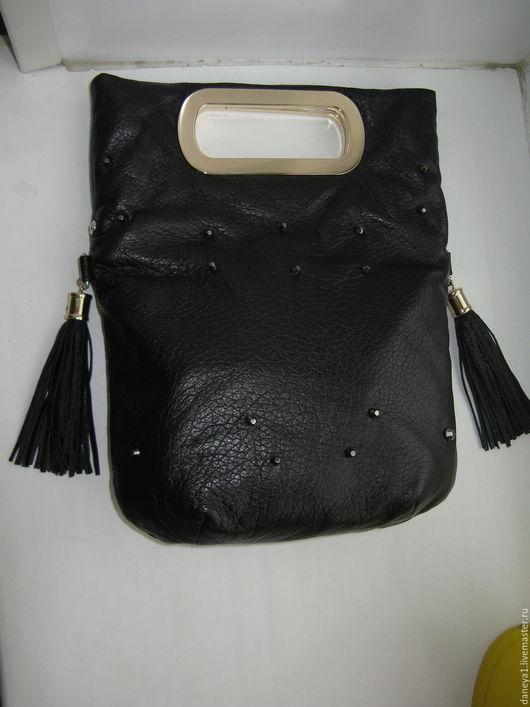 Женские сумки ручной работы. Ярмарка Мастеров - ручная работа. Купить Сумка с врезными ручками. Handmade. Черный, черная сумочка