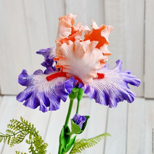"""Цветы ручной работы. Ярмарка Мастеров - ручная работа. Купить Цветок ириса """"Сливовый"""". Handmade. Фиолетовый, цветы в подарок, flower"""