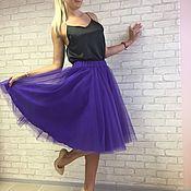 """Одежда ручной работы. Ярмарка Мастеров - ручная работа Юбка пачка из фатина """"фиолетовая"""". Handmade."""