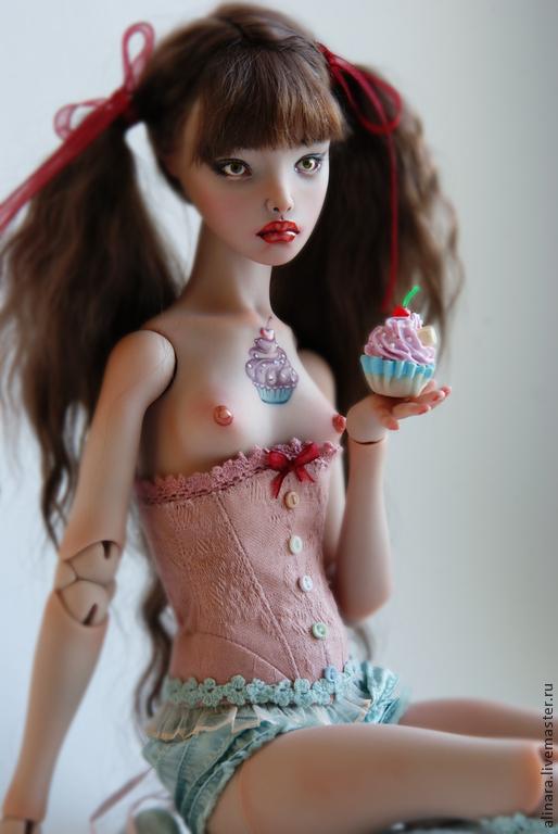 Коллекционные куклы ручной работы. Ярмарка Мастеров - ручная работа. Купить Кэнди. Полиуретановая девочка. Handmade. Розовый, полиуретан