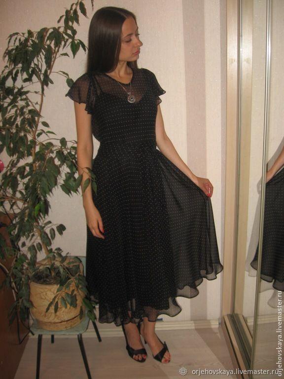 debcb104229 Платье из шелкового шифона в горошек – купить в интернет-магазине на ...