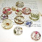 Материалы для творчества handmade. Livemaster - original item Transparent Buttons are Handmade from Resin Frozen Summer. Handmade.