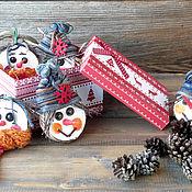 Для дома и интерьера ручной работы. Ярмарка Мастеров - ручная работа Елочная игрушка Снеговичок. Handmade.
