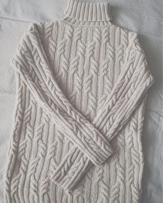 Для мужчин, ручной работы. Ярмарка Мастеров - ручная работа. Купить Мужской свитер с косами. Handmade. Свитер, свитер вязаный