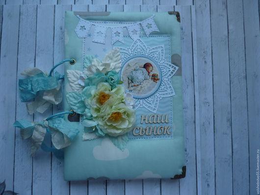 """Подарки для новорожденных, ручной работы. Ярмарка Мастеров - ручная работа. Купить Блокнот мамины заметки, беби бук """"Мамина радость"""". Handmade."""