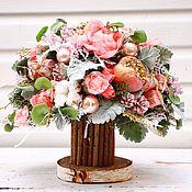 Подарки к праздникам ручной работы. Ярмарка Мастеров - ручная работа Розовый букет. Handmade.