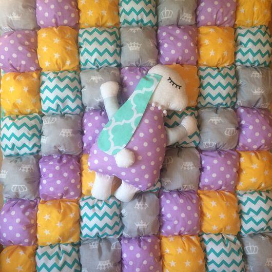 Детская ручной работы. Ярмарка Мастеров - ручная работа. Купить Одеяло в кроватку. Handmade. Одеяло, бомбон одеяло, покрывало в детскую