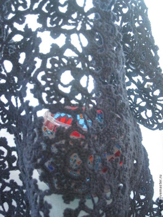 """Шали, палантины ручной работы. Ярмарка Мастеров - ручная работа. Купить Палантин  """"Ночи Марракеша"""". Handmade. Тёмно-синий, шарф"""