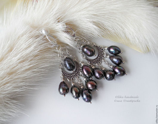 серьги Сasual pearls II жемчужные сережки, подарок девушке женщине, комплект украшений купить, крупные длинные серьги, серьги купить в питере, украшение в подарок, жемчужные серьги, серьги жемчужные,
