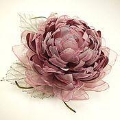 Украшения handmade. Livemaster - original item Windy Lotus. Brooch - fabric flower. Handmade.