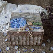 """Короб ручной работы. Ярмарка Мастеров - ручная работа """"Утро в деревне""""-Короб. Handmade."""