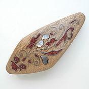Украшения ручной работы. Ярмарка Мастеров - ручная работа Заколка деревянная с перламутром. Handmade.