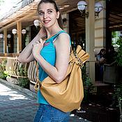 Рюкзаки ручной работы. Ярмарка Мастеров - ручная работа Рюкзак ВещьМешок, рюкзак кожаный, бежевый, кэмел, женский мужской. Handmade.