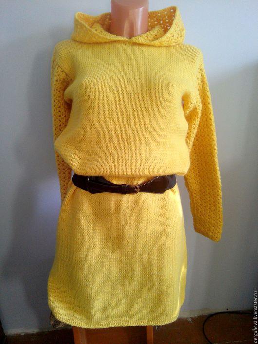 Платья ручной работы. Ярмарка Мастеров - ручная работа. Купить Желтое платье. Handmade. Желтый, полушерсть