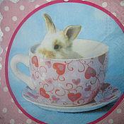 Материалы для творчества ручной работы. Ярмарка Мастеров - ручная работа №51 Салфетка для декупажа, кролик, зайчик, животное.. Handmade.