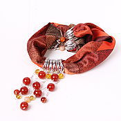 Украшения handmade. Livemaster - original item silver rain necklace chain, carnelian and zircons. Handmade.