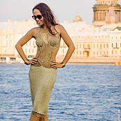 """Одежда ручной работы. Ярмарка Мастеров - ручная работа золотое платье """"Космо 1"""". Handmade."""