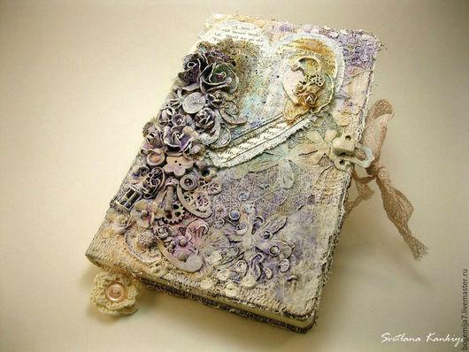 """Блокноты ручной работы. Ярмарка Мастеров - ручная работа. Купить Блокнот-дневник """" Чудеса"""" для личных записей (сиреневый). Handmade."""