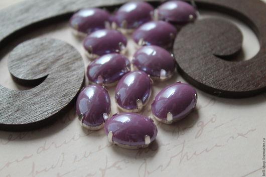 Для украшений ручной работы. Ярмарка Мастеров - ручная работа. Купить Перламутровые стразы овал 10х14 мм Магический пурпур. Handmade.