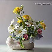 Цветы и флористика ручной работы. Ярмарка Мастеров - ручная работа Букетик полевых цветов. Handmade.