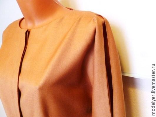Платья ручной работы. Ярмарка Мастеров - ручная работа. Купить Платье 46р.,.Flying bat.../ шерсть /корица. Handmade.
