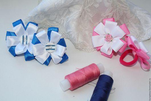 Заколки ручной работы. Ярмарка Мастеров - ручная работа. Купить Резинки для волос. Handmade. Синий, аксессуары, резинка для волос