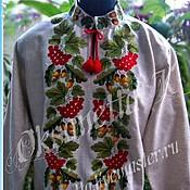 Одежда handmade. Livemaster - original item Shirt: Men`s embroidery