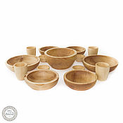 Семейный Набор деревянной посуды на 4 персоны Сибирский Кедр #TN25