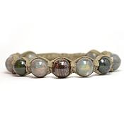 Украшения handmade. Livemaster - original item Shamballa bracelet with labradorite, jade and Bronzit suede. Handmade.