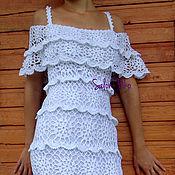 Одежда ручной работы. Ярмарка Мастеров - ручная работа Кружевное вязаное платье. Handmade.