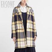 Одежда ручной работы. Ярмарка Мастеров - ручная работа Шерстяное пальто в клетку Пальто женское Пальто женское Пальто женское. Handmade.